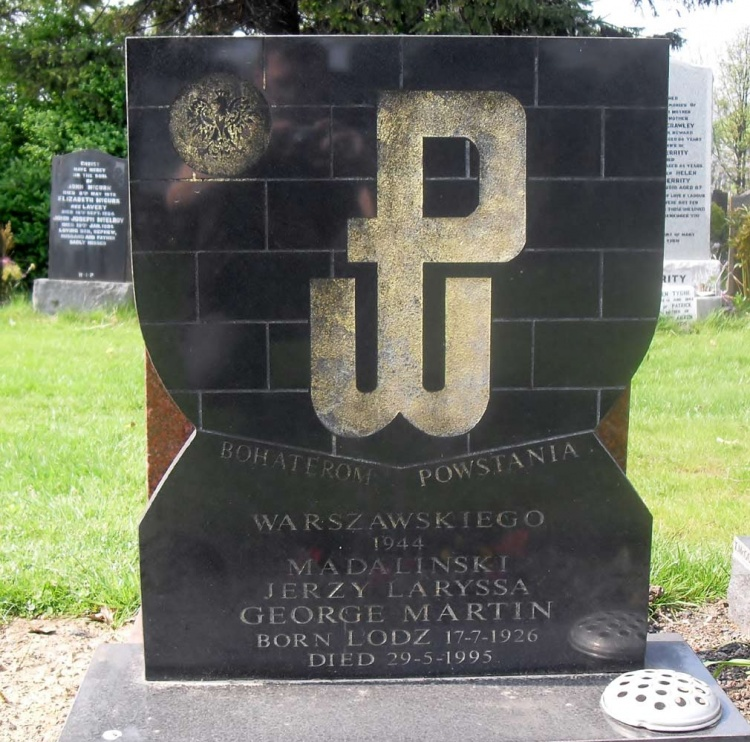 Grób Jerzego Madalińskiego na cmentarzu w Glasgow. Fot. Grzegorz Pietrzak, 22.04.2011 r.