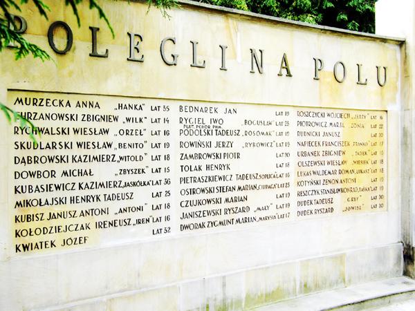 Pomnik nad zbiorową mogiłą w Pęcicach, gdzie poległ Michał Dowbor ps. Zbyszek