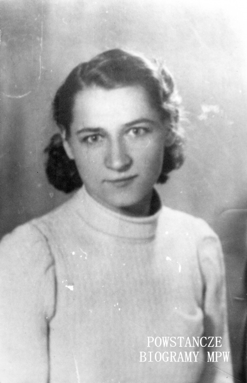 """Maria Urbas """"Bronka"""". Fot. ze zbiorów Muzeum Powstania Warszawskiego, sygn. MPW-IS/751"""