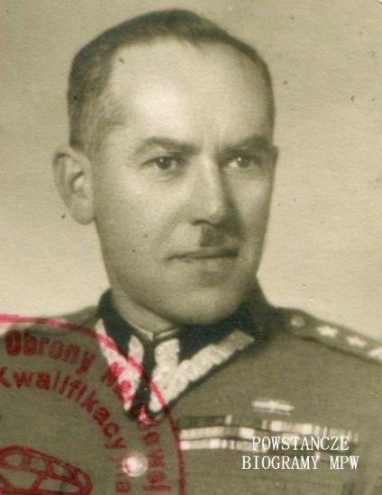 """kpt. Bolesław Kłosiński ps. """"Boryś"""" (1896-1990) Fot. z archiwum  rodzinnego Adriany Zawadzkiej - Kłosińskiej"""