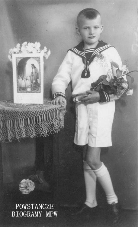"""Jerzy Zygmunt Mijas ps. """"Jeż"""" (1930-1944). Fot. z archiwum rodzinnego Roberta Mijasa"""