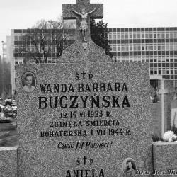 Mogiła Wandy Buczyńskiej na Cmentarzu Służewieckim  w Warszawie. Fot. Jan Wawszczyk