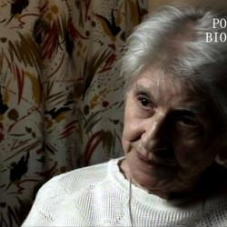 """Krystyna Nowakowska - Piórkowska """"Pela""""  (1923-2016). Na zdjęciu w 2010 roku podczas wywiadu dla Archiwum Historii Mówionej."""