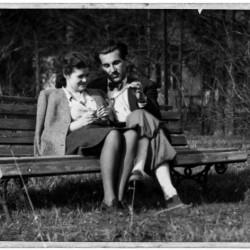 Z żoną Różą Marią Nowotną ps.