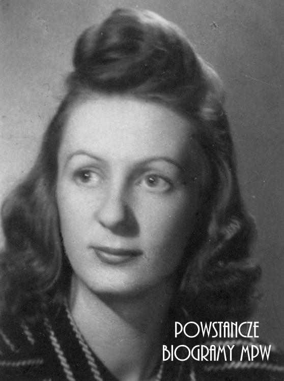 """Halina Ciechomska - Badowska """"Żaneta"""" (1922-1994). Fot. ze zbiorów Muzeum Powstania Warszawskiego, sygn. P/3956"""