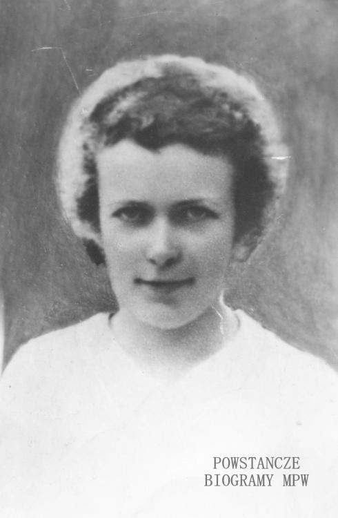 """Halina Namokel """"Jaga"""" (1924-1944) Fot. z archiwum rodzinnego p. Małgorzaty Świętanowskiej - Szcześniak."""
