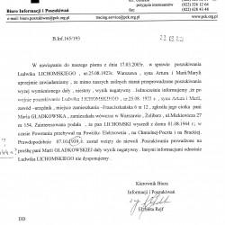 PCK -B. Inf. 165/193 (pismo- 2005 r.), udostępnił p. Andrzej Gładkowski