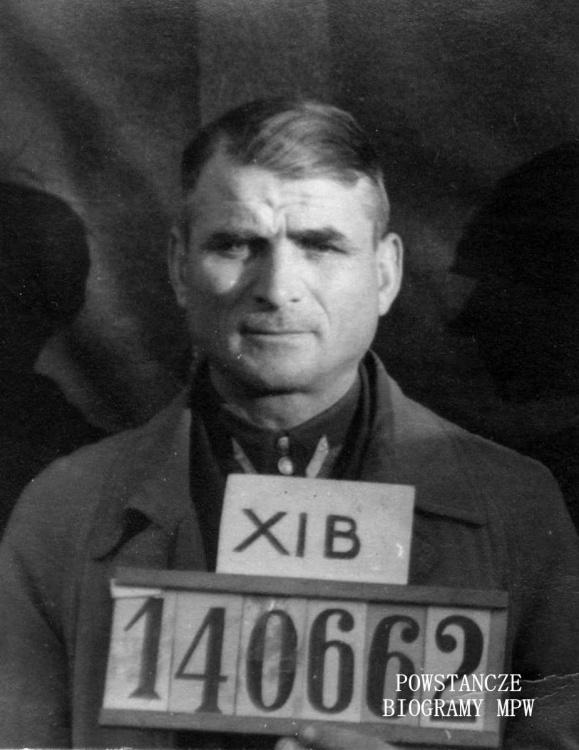 """Franciszek Kaczmarek ps. """"Mściwy"""" (1897-1977). Zdjęcie wykonane w Stalagu XI B. Ze zbiorów Muzeum Powstania Warszawskiego, sygn, P/4186"""