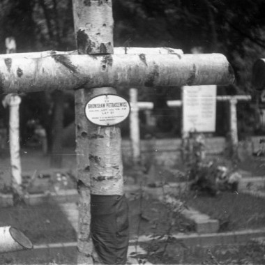 Fotografie grobów żołnierzy batalionu