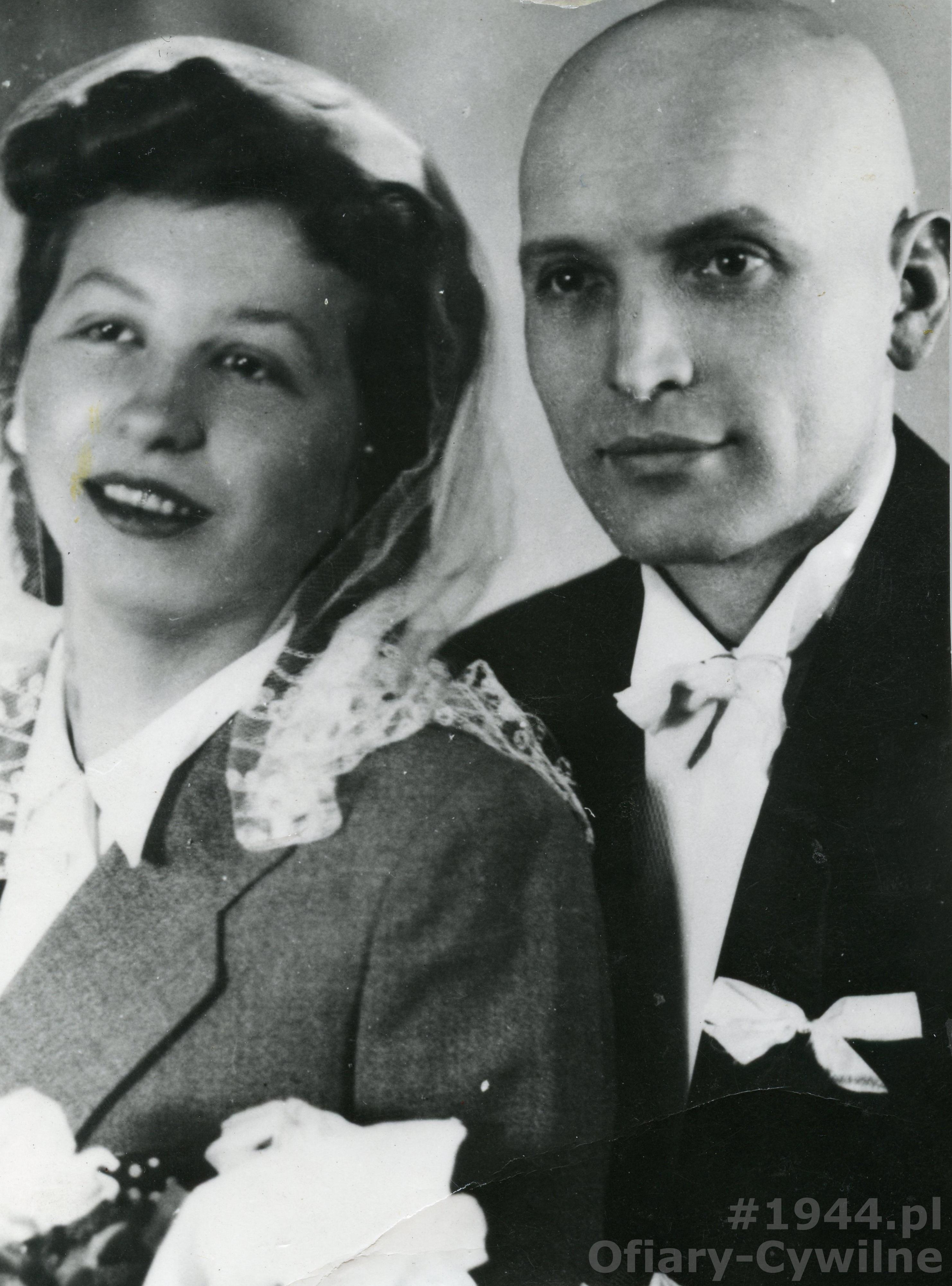Zofia Rychlewska wraz z mężem <a href=