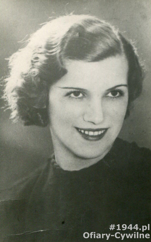 Stanisława Myko z domu Krawczyk (1911-1944), zdjęcie udostępnił syn p. Andrzej Myko