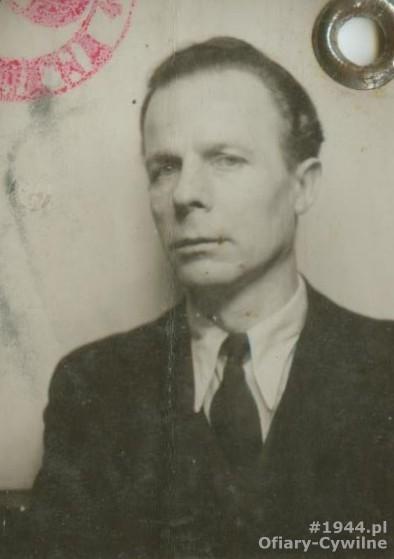 Roman Langda (1903-1944), zdjęcie z okupacyjnej kenkarty udostępnione przez syna p. Eugeniusza Langda