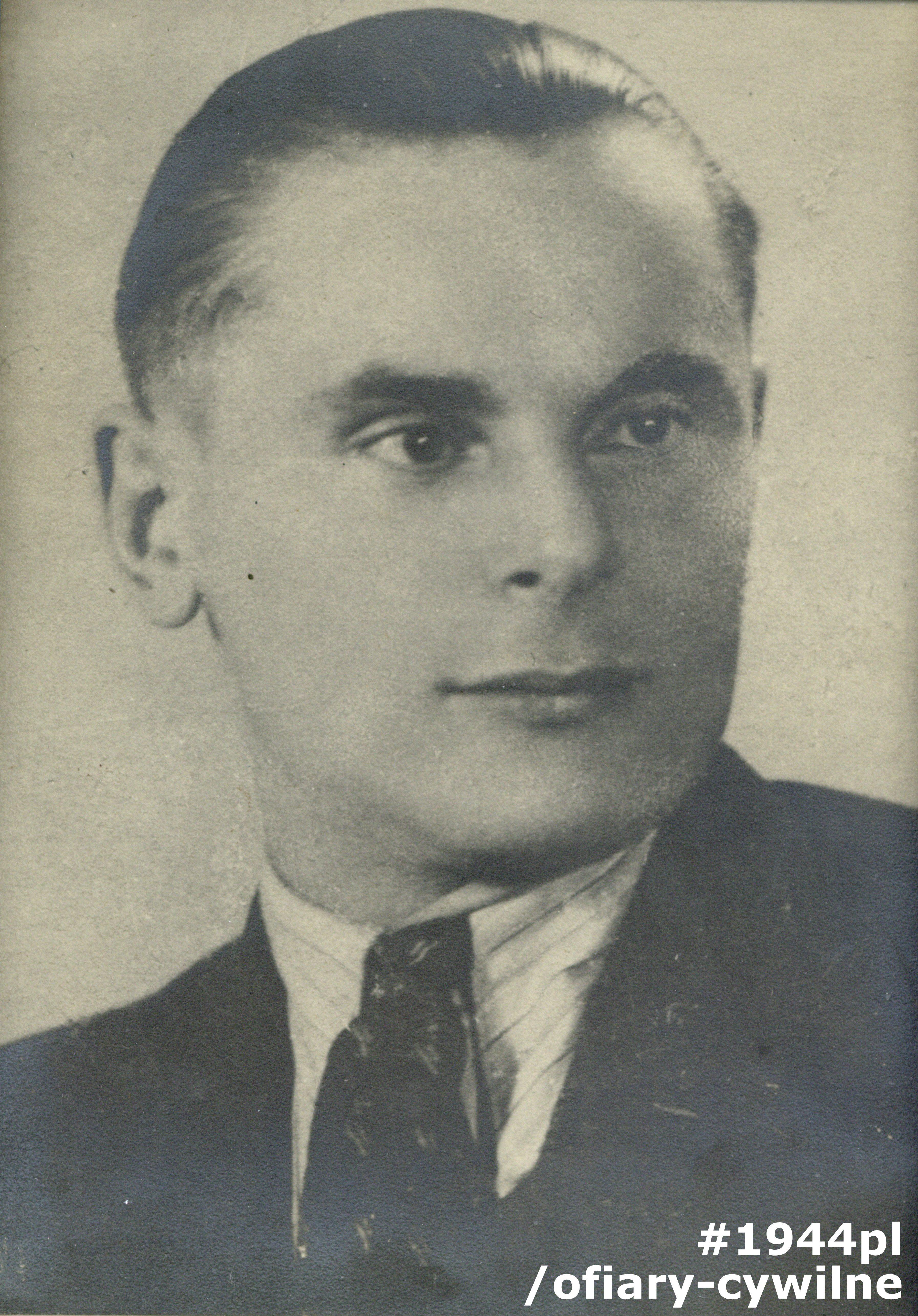 Kazimierz Zieliński (1909-1944), fotografia udostępniona przez córkę Panią Anne Gebler