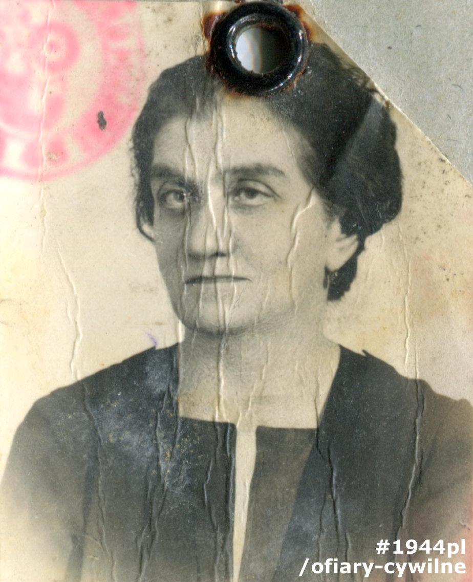 Anna Niwińska (1877-1944), fotografa z okupacyjnej kenkarty, zbiory Muzeum Powstania Warszawskiego P/9056