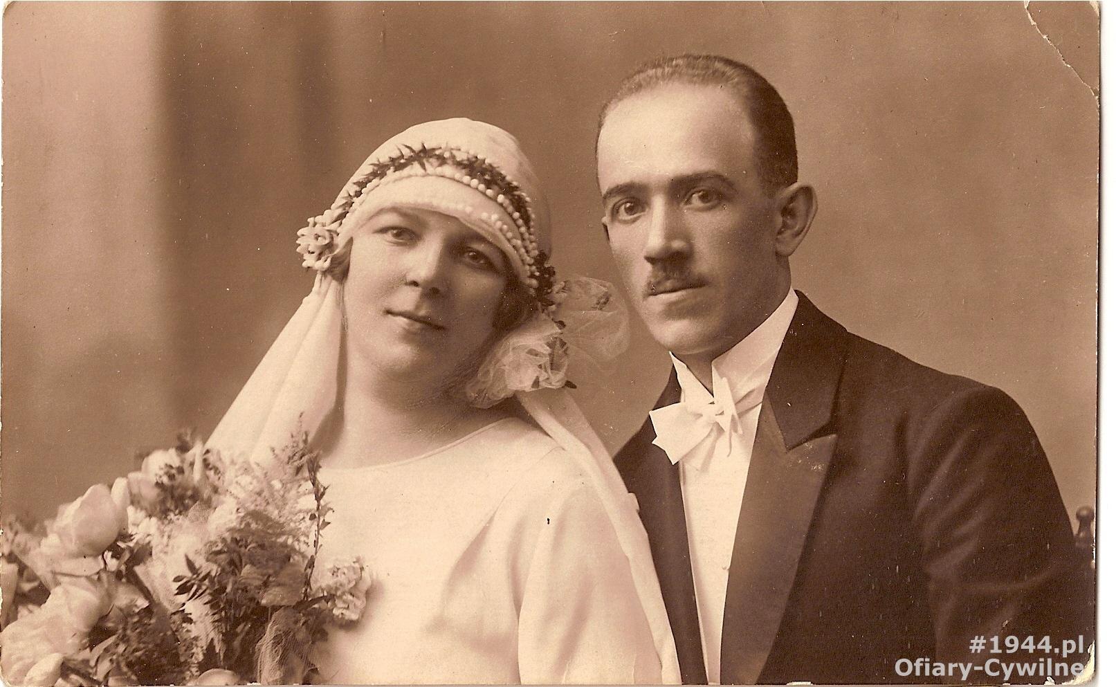 Eugenia i Zygmunt Netzel, zdjęcie udostępnił p. Michał Netzel