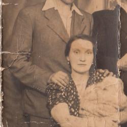 Zygmunt Spruch wraz z żoną Genowefą, fotografię udostępnił Pan Mariusz Spruch