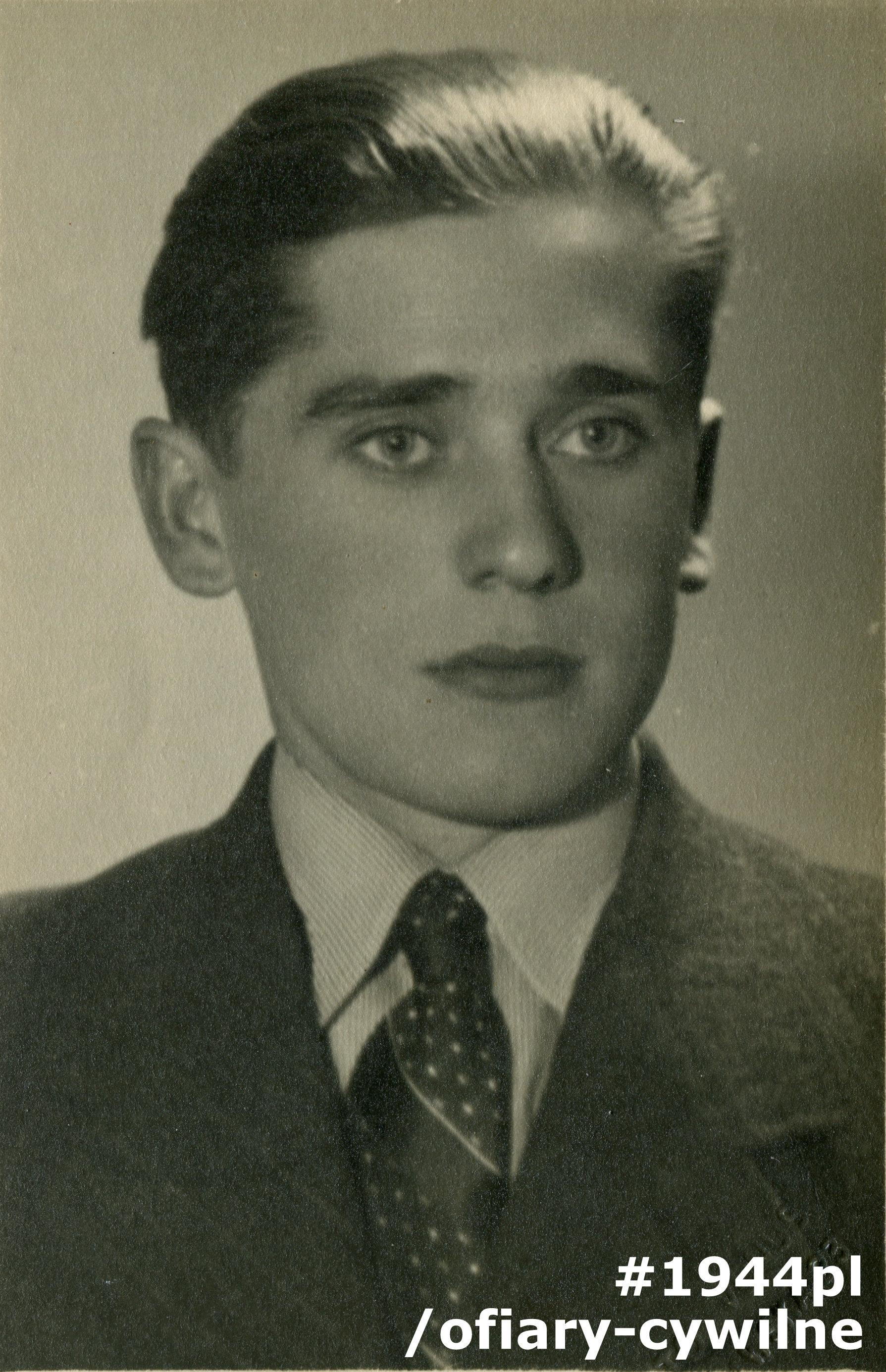 Mikołaj Kobitowicz (1916-1944), fotografia udostępniona przez córkę Panią Annę Rejek