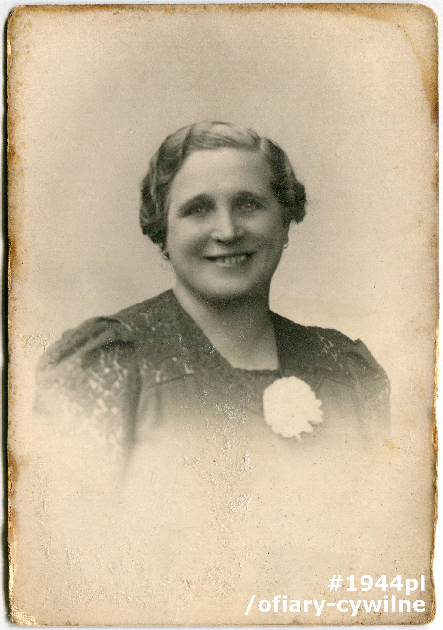 Wanda Rekwart (1889-1944), fotografia ze zbiorów Muzeum Powstania Warszawskiego P/9258