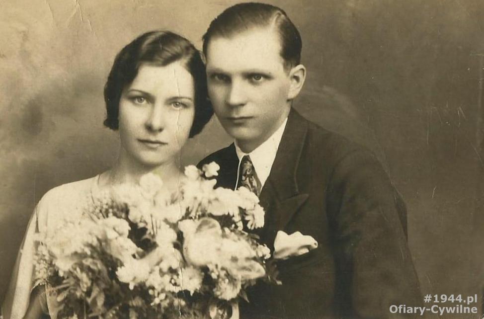 Franciszek Rekuć wraz z żoną Felicją, zdjęcie udostępnił syn Pan Zygmunt Rekuć
