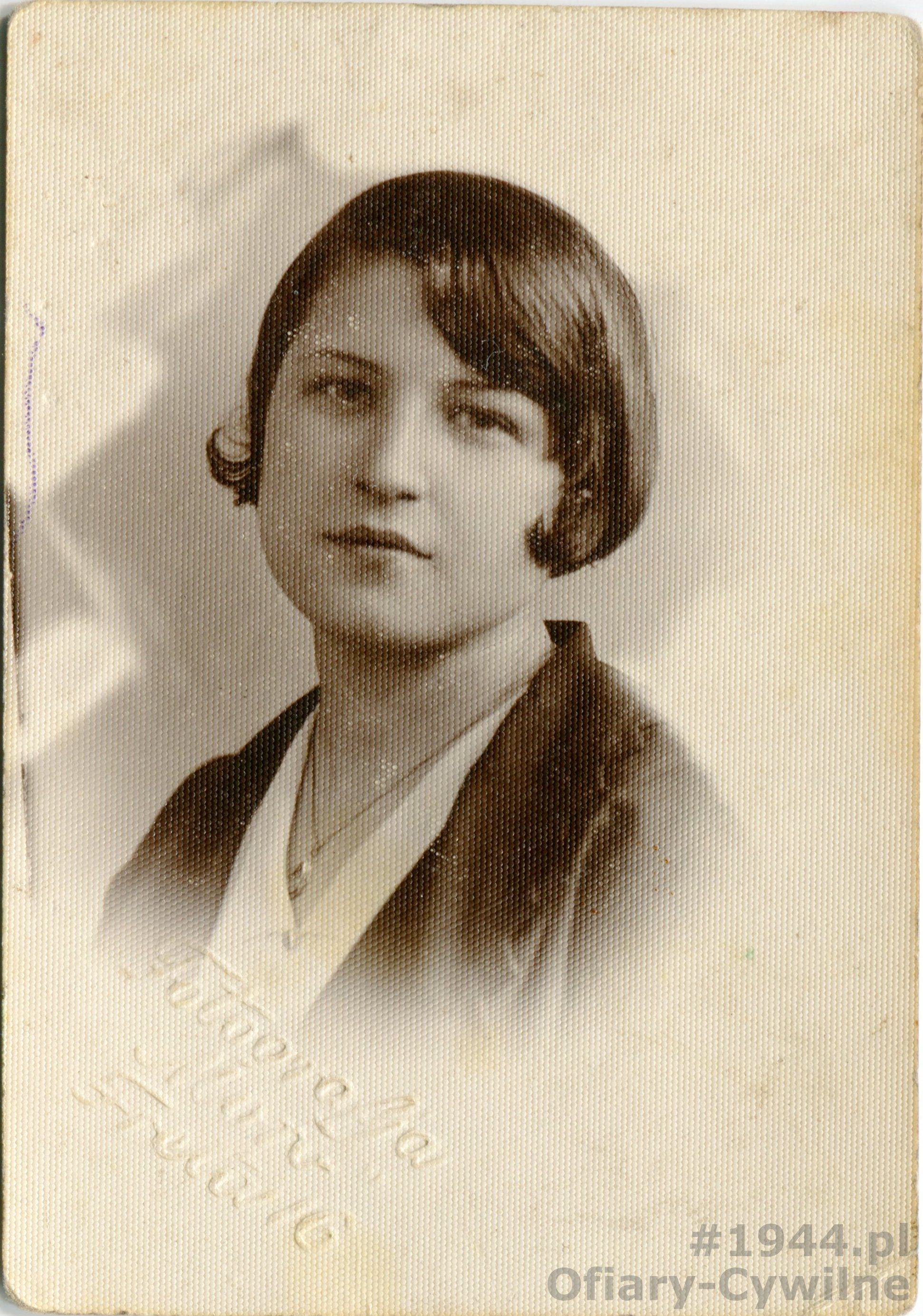 Stanisława Łopatowska z domu Pest (1916-1944, zdjęcie udostępniła siostra pani Jadwiga Ścisłowska