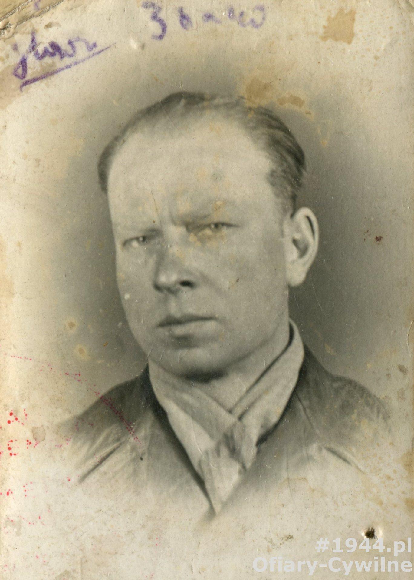 Zdjęcie z okupacyjnej kenkarty, udostępnione przez córkę p. Marię Bromowska-Wieńszczak