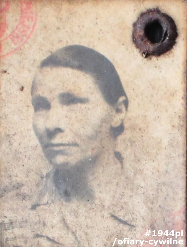Antonina Osmokowicz vel Osmakiewicz, fotografia z kenkarty udostępnionej przez panią Iwonę Kakiet-Kupińską