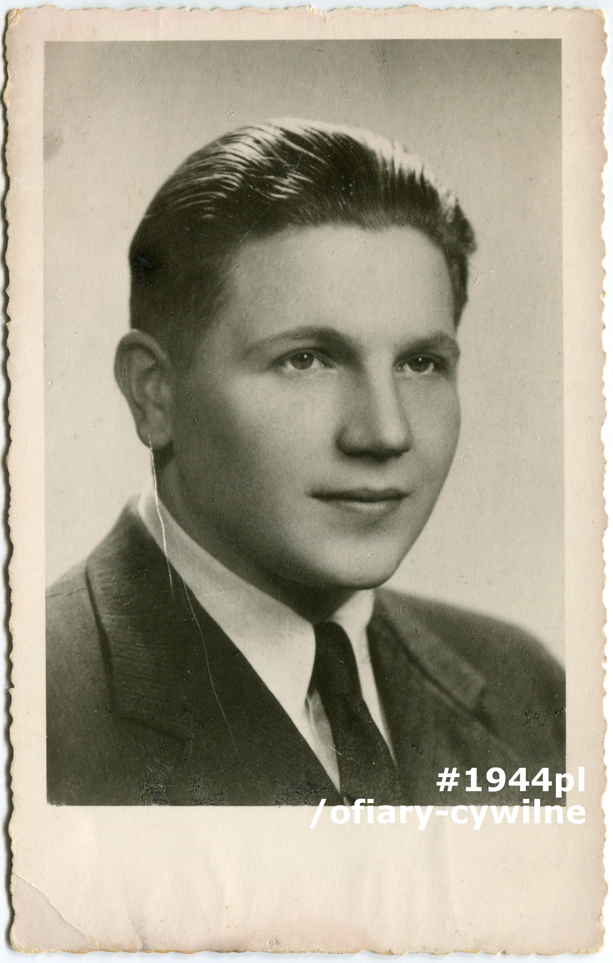 Andrzej Józef Rekwart (1918-1944), fotografia ze zbiorów Muzeum Powstania Warszawskiego P/9258