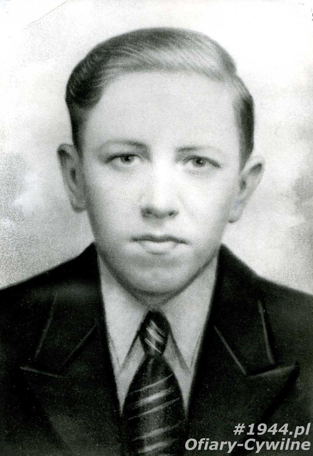 Tadeusz Piętak (1926-1944), zdjęcie udostępniła p. Wiesława Piętak
