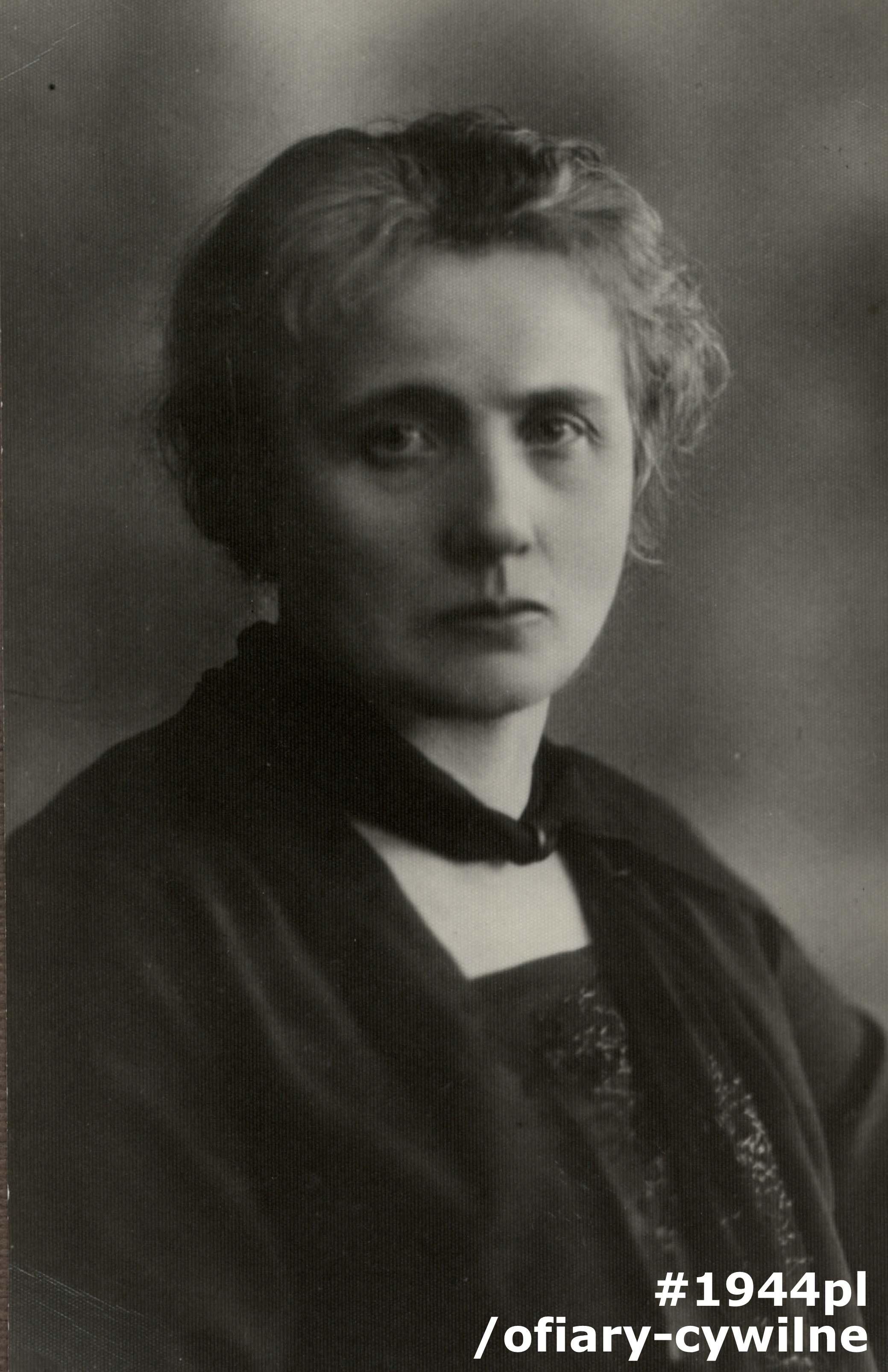 Maria Gościcka z Mieczkowskich, fotografię udostępnił pan Wojciech Zgliczyński