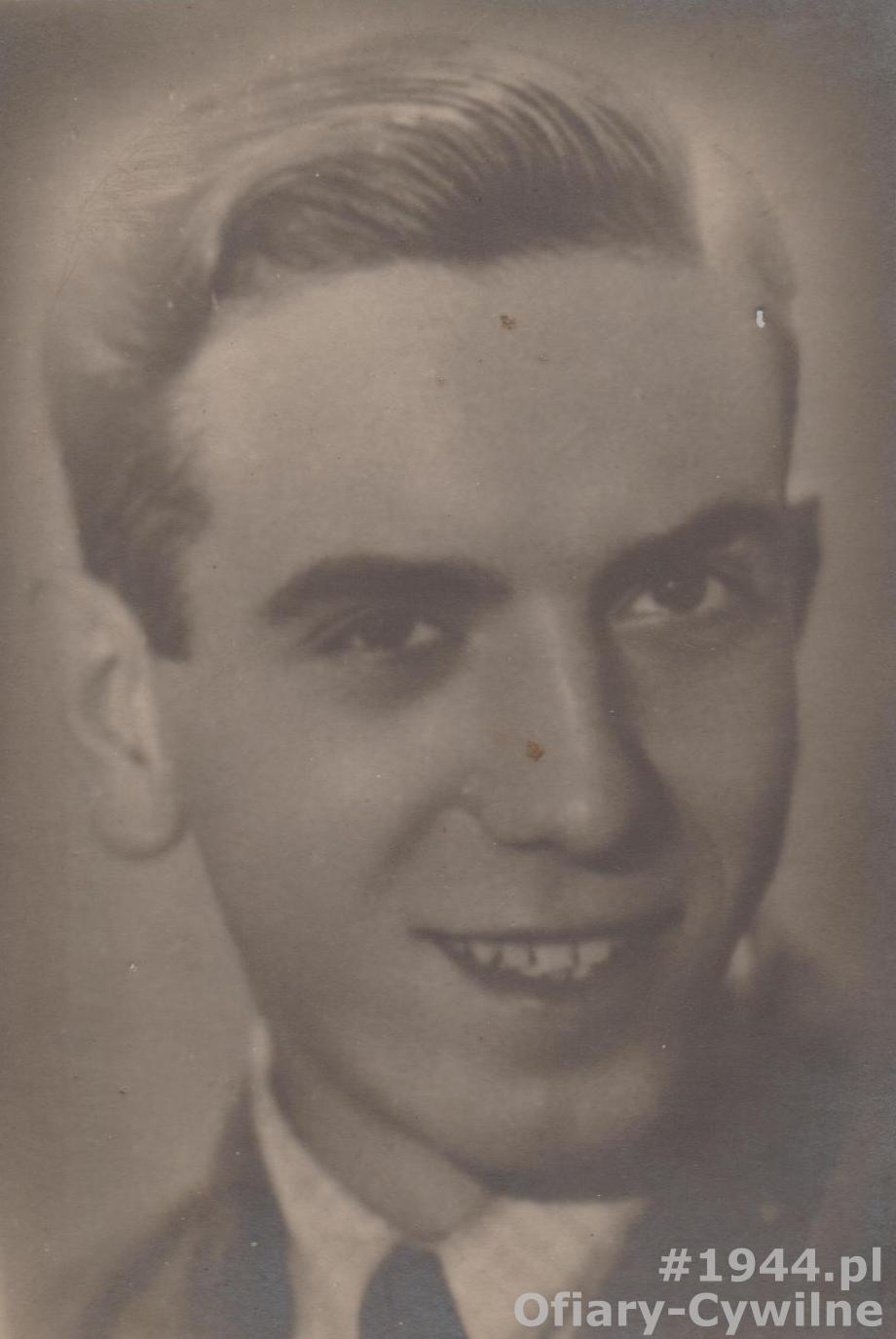 Stanisław Teofil Bolejko (1922-1944), zdjęcie udostępnił p. Kamil Nowak