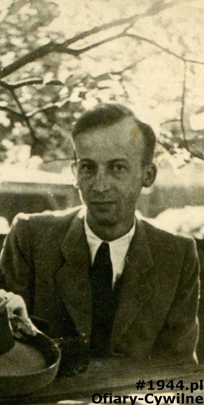 Józef Falkowski ok. 1944 r., ze zbiorów rodziny Falkowskich oraz pana Gabriela Stypińskiego